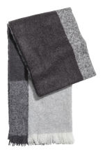 Block-print scarf - Black/Grey - Ladies | H&M IE 1