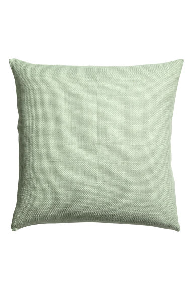 Textured-weave cushion cover - Dusky green - Home All | H&M CN
