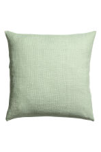 Textured-weave cushion cover - Dusky green - Home All | H&M GB 1