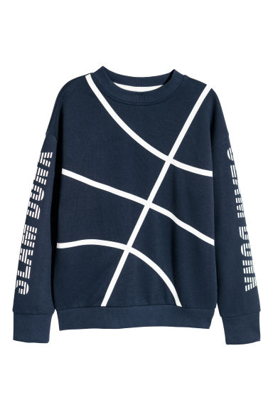 Printed sweatshirt - Dark blue - Kids | H&M