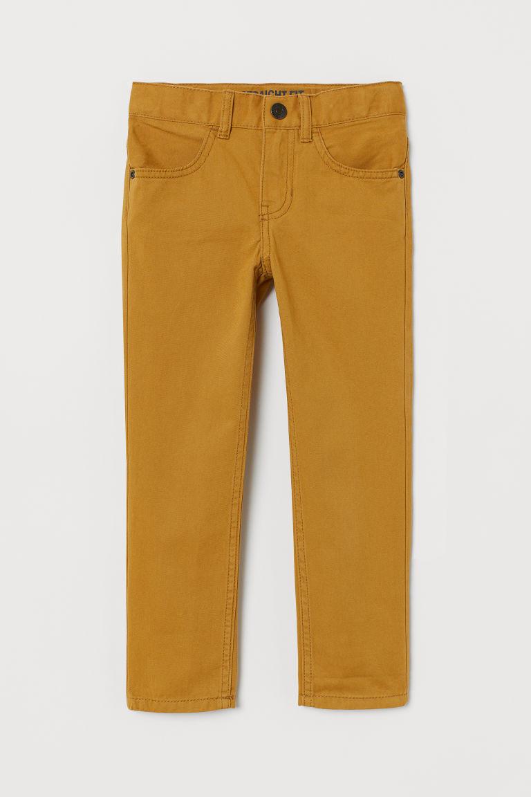 Twill trousers Regular Fit - Dark yellow - Kids   H&M GB