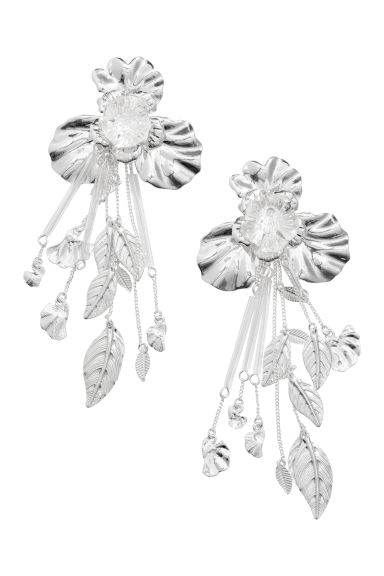 Long earrings - Silver-coloured -  | H&M