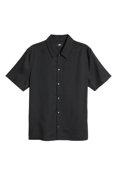 Camicia in lyocell Regular fit - Nero - UOMO | H&M IT