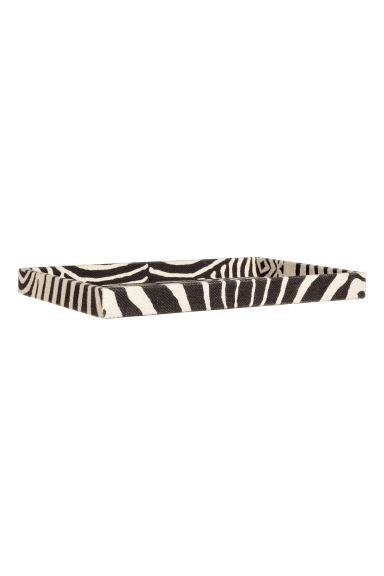 Zebra-print tray - Anthracite grey/Zebra print - Home All | H&M CN