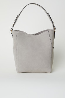 Suede hobo bag
