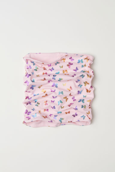 Patterned tube scarf - Light pink/Butterflies - Kids | H&M CN