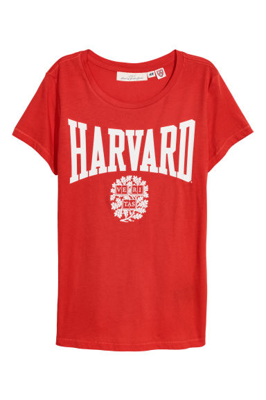 Printed T-shirt - Red - Ladies | H&M GB
