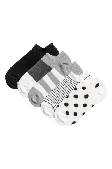 5-pack trainer socks - White/Spotted - Ladies | H&M