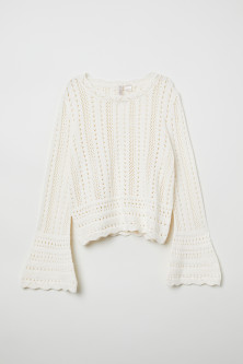 Trumpet-sleeved jumper