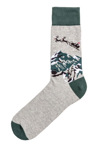 Jacquard-knit socks Model
