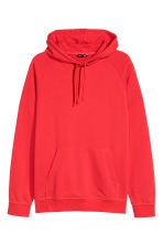 Hooded top with raglan sleeves - Red - Men | H&M CN 2