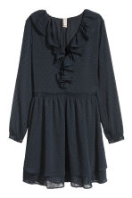 Chiffon dress - Dark blue - Ladies | H&M IE 2