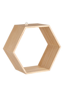 Hexagonal Wooden Shelf