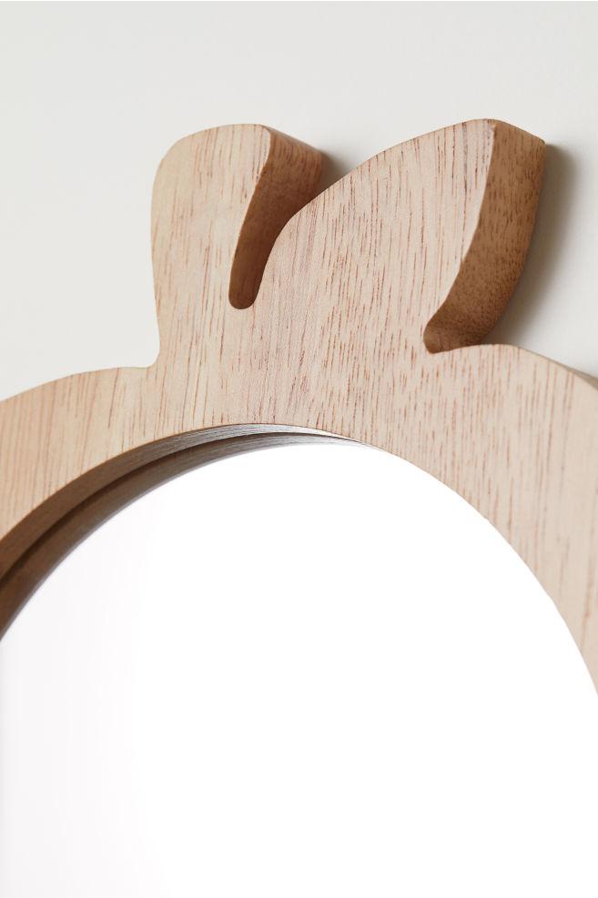 Runder Spiegel mit Holzrahmen - Holz/Apfel - Home All   H&M AT