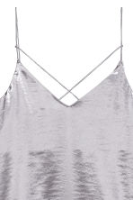 Satin strappy top - Light heather - Ladies | H&M 3