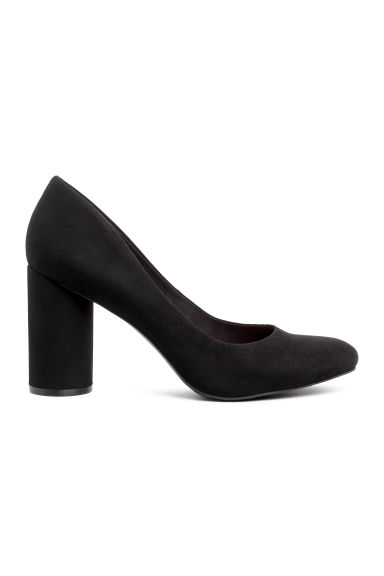 Round-heeled court shoes - Black -  | H&M GB