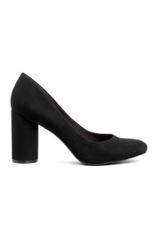 Round-heeled court shoes