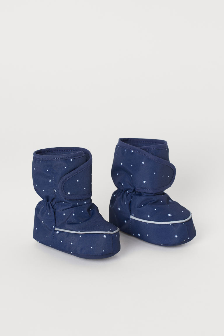Waterproof bootees - Dark blue/Stars - Kids | H&M GB