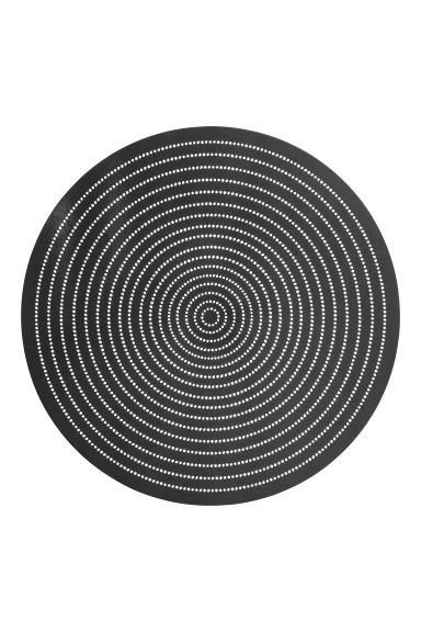Round cork table mat - Anthracite grey - Home All | H&M CN