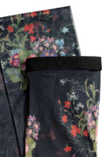 Floral tights - Black/Floral - Ladies | H&M IE 2