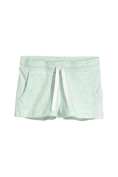 Shorts corti in jersey - Verde menta mélange -  | H&M CH