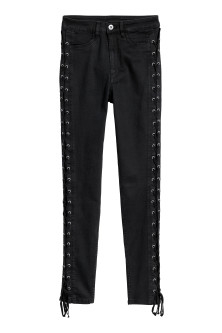 Petite Fit trousers with laces