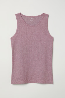 Cotton jersey vest top