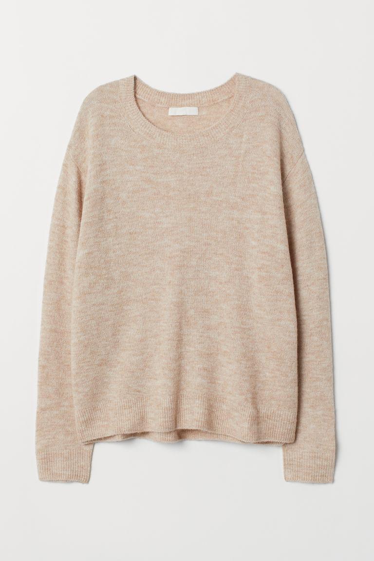 Fine-knit jumper - Light beige marl - Ladies | H&M GB
