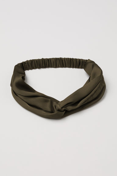 Satin hairband - Khaki green - Ladies | H&M IE