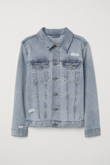 Denim jacket with zips