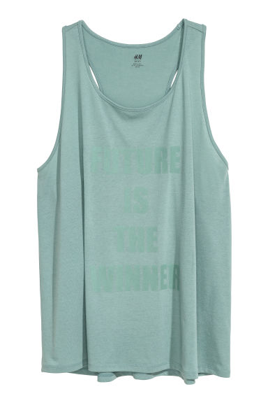H&M+ Sports vest top - Light green - Ladies | H&M