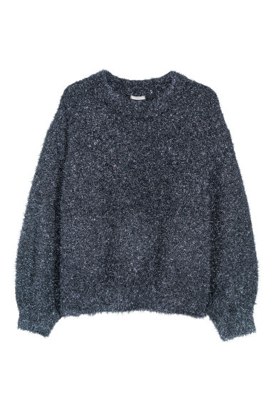 H&M+ Knitted jumper - Black/Glitter -  | H&M GB