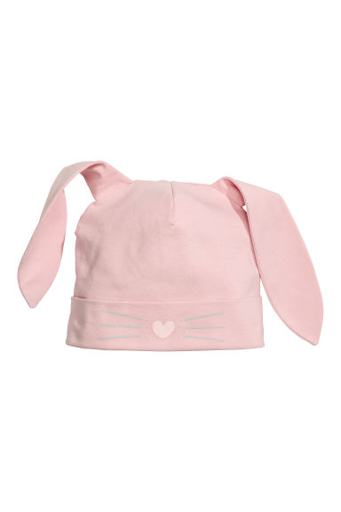 Jersey hat with ears - Pink/Rabbit - Kids | H&M CN