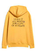 Hooded top with a motif - Yellow - Men | H&M CN 3