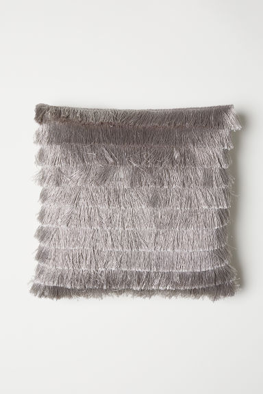 Fringed cushion cover - Light grey - Home All | H&M CN