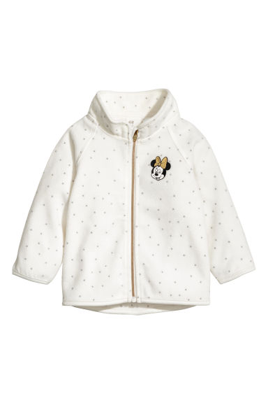 Fleece jacket - White/Minnie Mouse - Kids | H&M CN
