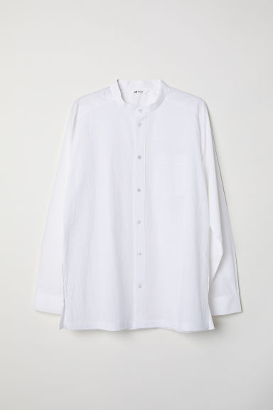 Grandad shirt - White - Men | H&M