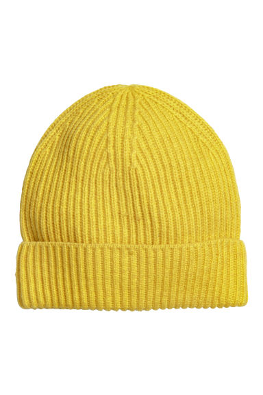 Ribbed hat - Neon yellow - Ladies | H&M