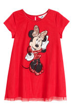 Vestido en tul brillante - Rojo vivo/Minnie Mouse -  | H&M ES 2
