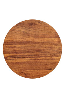 Round wooden chopping board