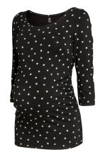 MAMA Jersey top - Black/Four-leaf clover - Ladies | H&M CN 2