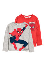 2-pack jersey tops - Red/Spider-Man - Kids | H&M CN 1