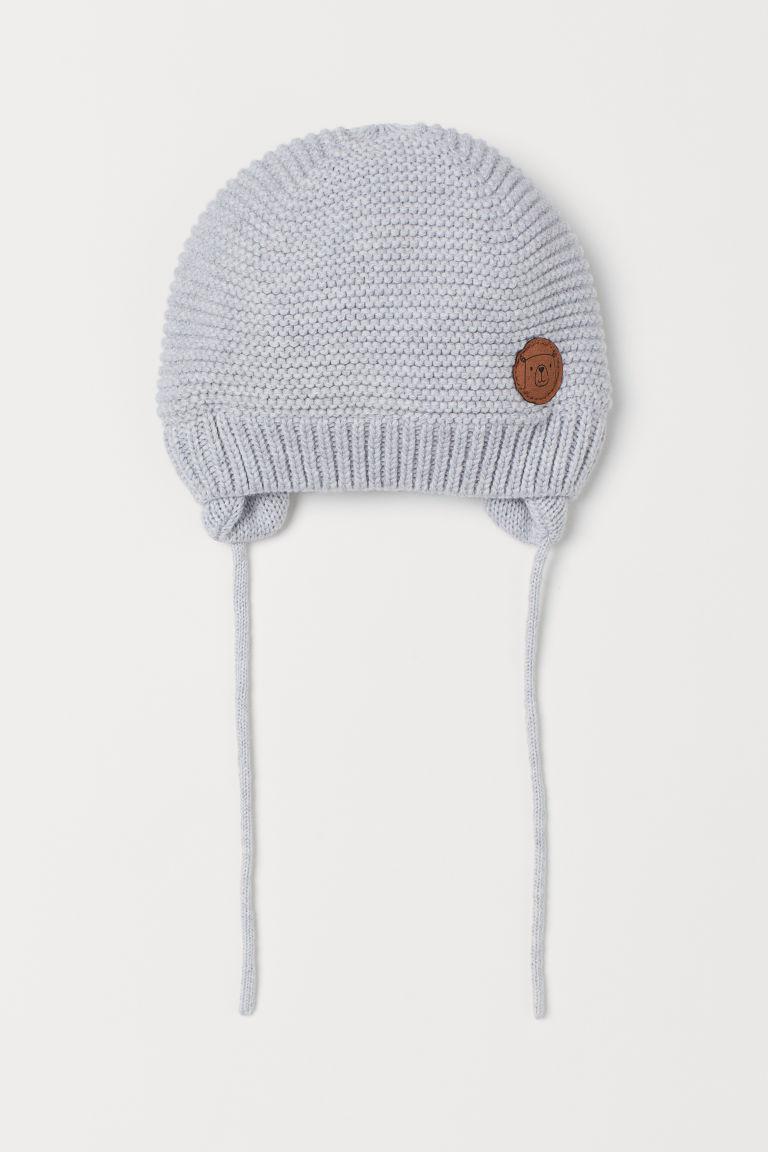 Knitted hat - Light grey - Kids | H&M GB