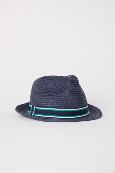 Straw hat - Dark blue - Kids | H&M CN