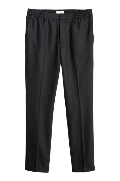 Elasticated trousers - Dark blue -  | H&M GB