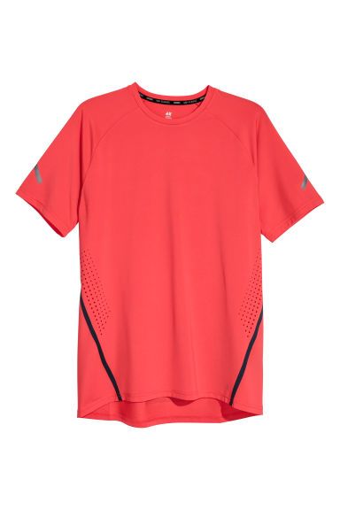 Short-sleeved running top - Red -  | H&M CN