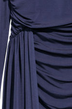 Draped dress - Dark blue - Ladies | H&M CN 3