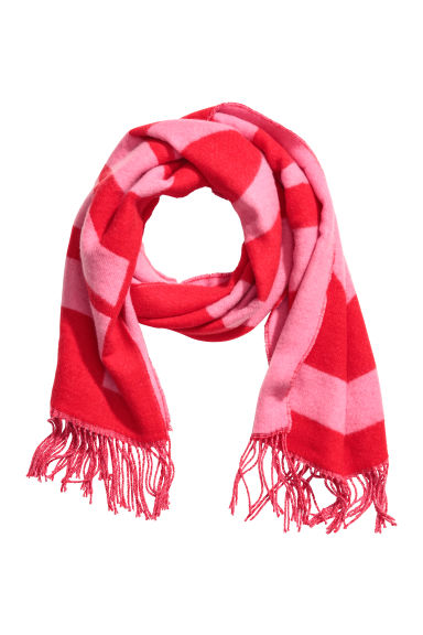 Jacquard-weave scarf - Red -  | H&M