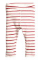 Natural white/Red striped
