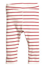 Bodysuit and trousers - Natural white/Red striped - Kids | H&M CN 1